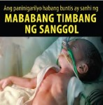 Philippines 2014 ETS baby - targets parents, low birth weight (Filipino)
