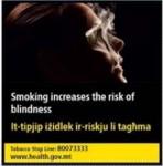 Malta 2016 Health Effects eye - blindness, symbolic - set 2